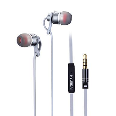 هيونداي هي-201mv سماعة للهاتف المحمول 3.5 ملليمتر في الأذن السلكية مع ميكروفون التحكم في مستوى الصوت