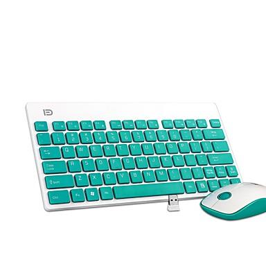 K1500 ultra taşınabilir sessiz botton office kablosuz klavye ve fare açılan