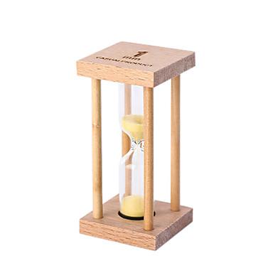 صغيرة الرملية البندول العد التنازلي 1/3 / 5 دقائق الوقت مصغرة الزجاج الخشب هدية