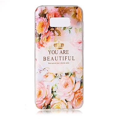 Kılıf Na Samsung Galaxy S8 Plus S8 Przezroczyste Wytłaczany wzór Wzór Etui na tył Napis Kwiaty Miękkie TPU na S8 S8 Plus S7 edge S7