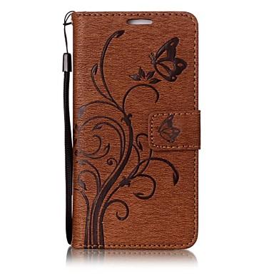 Für huawei y6 ii p10 Schmetterling und Blume geprägt Muster PU Leder Material Brieftasche Funktion Telefon Fall p10 lite p8 lite (2017)