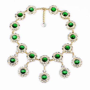 Γυναικεία Κολιέ Δήλωση Round Shape Μοναδικό Πράσινο Ανοικτό Κοσμήματα Για Καθημερινά 1pc