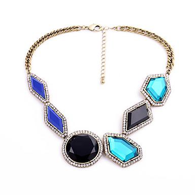 Pentru femei Lănțișoare Cristal La modă Personalizat Cute Stil Euramerican Albastru Închis Bijuterii Pentru Nuntă Petrecere 1 buc