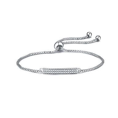 Damen Ketten- & Glieder-Armbänder Freundschaft Modisch Zirkon Runde Form Schmuck Für Weihnachts Geschenke 1 Stück