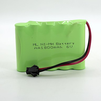 NiMH Akku aa 1800mAh 6V hoher Qualität sm Kopf (grüne Farbe)