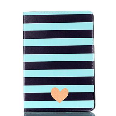 hoesje Voor Apple iPad Mini 4 iPad Mini 3/2/1 Kaarthouder Portemonnee met standaard Flip Magnetisch Patroon Volledig hoesje Lijnen /