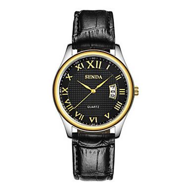Bărbați Ceas La Modă Quartz Piele Bandă Negru Maro
