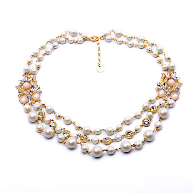 Γυναικεία Σκέλη Κολιέ Round Shape Εξατομικευόμενο χαριτωμένο στυλ Λευκό Κοσμήματα Για 1pc