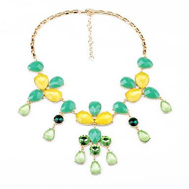 Γυναικεία Σκέλη Κολιέ Κρυστάλλινο Μοντέρνα Λατρευτός Εξατομικευόμενο χαριτωμένο στυλ Euramerican Πράσινο Ανοικτό Κοσμήματα Για Γάμου Πάρτι