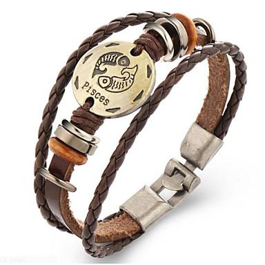 Heren Dames Lederen armbanden Vintage Leder Geometrische vorm Sieraden Lahja Kostuum juwelen