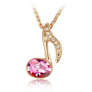 Kadın's Uçlu Kolyeler Mücevher Mücevher Değerli Taş alaşım Eşsiz Tasarım sevimli Stil Turuncu Kırmzı Pembe Açık Yeşil Mücevher IçinParti