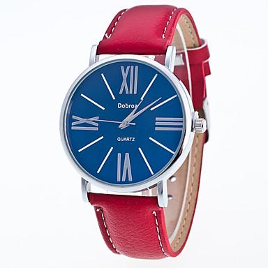 Heren Modieus horloge Chinees Kwarts Leer Band Vrijetijdsschoenen Zwart Wit Rood Bruin