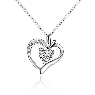 Γυναικεία Geometric Shape Καρδιά Εξατομικευόμενο Geometric Μοναδικό Κρεμαστό Κρεμαστό κόσμημα Κλασσικό Βίντατζ Τεχνητό διαμάντι Μποέμ