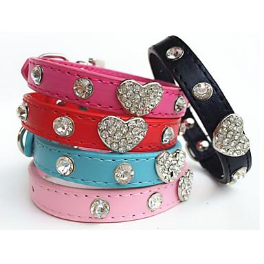 Kat Hond Kraag Strass Zwart Roos Rood Blauw Roze