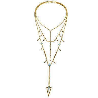 Kadın's Uçlu Kolyeler Triangle Shape Püsküller Kişiselleştirilmiş sevimli Stil Altın Mücevher Için 1pc