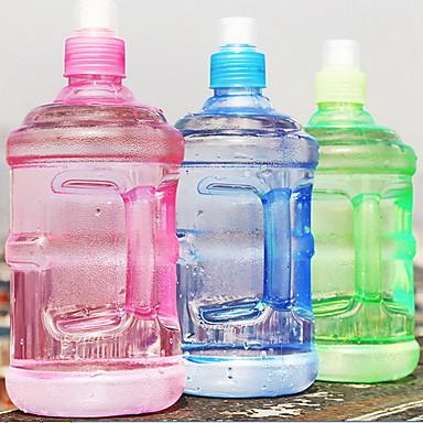 2szt plastikowy przezroczysty, przenośny czajnik do wody w ruchu, 500ml