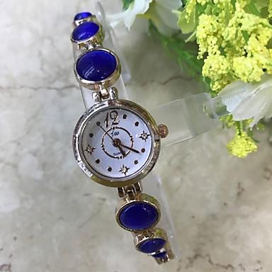 Damen Armband-Uhr Simulierter Diamant Uhr Chinesisch Quartz / Imitation Diamant Legierung Band Freizeit Rotgold