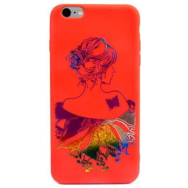 Pentru Carcase Huse Embosat Model Carcasă Spate Maska Femeie Sexy culoare Gradient Moale TPU pentru AppleiPhone 7 Plus iPhone 6s Plus