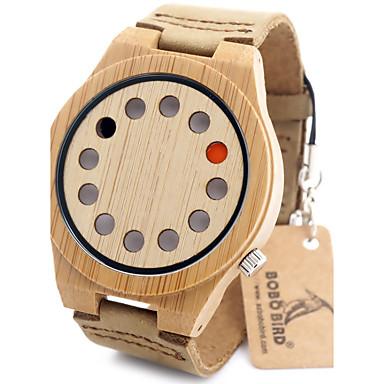Erkek Moda Saat Bilek Saati Benzersiz Yaratıcı İzle Gündelik Saatler Saat Ahşap Japonca Quartz Japon Kuvartz ahşap Ahşap Bant Lüks