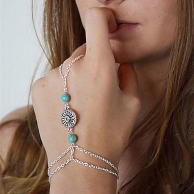 Γυναικεία Δαχτυλίδια με Βραχιόλι - Ευρωπαϊκό Ασημί Βραχιόλια Για Καθημερινά Causal