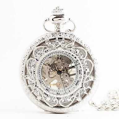 4a0f3fe77 Women's Pocket Watch Japanese Quartz White Hollow Engraving Analog Vintage  Steampunk - White #05805138