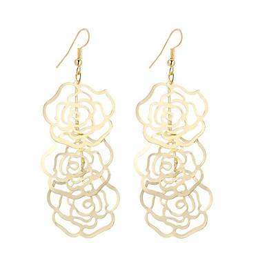 Damen Tropfen-Ohrringe Schmuck Anhänger Stil Blumen Modisch Vintage Böhmen-Art Simple Style Elegant versilbert vergoldet Aleación