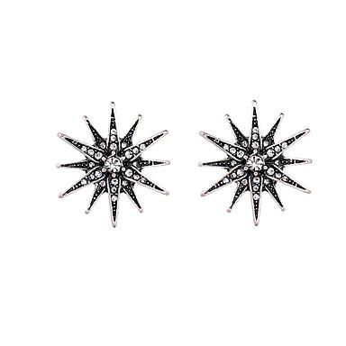 Naisten Tähti Kristalli Korvarenkaat - Yksilöllinen Euramerican Valkoinen / musta Tähti korvakorut Käyttötarkoitus Tupaantuliaiset Kiitos