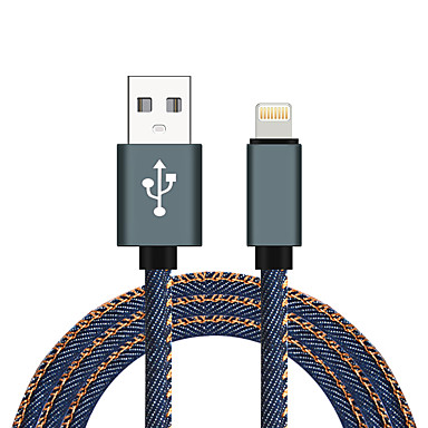 abordables Câbles pour Mac-USB 2.0 / Eclairage Câble <1m / 3ft Tressé / Haut débit Aluminium / Nylon Adaptateur de câble USB Pour Macbook / iPad / MacBook Air