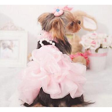 Hond Jurken Hondenkleding Casual/Dagelijks Modieus Geruit Paars Blauw Roze