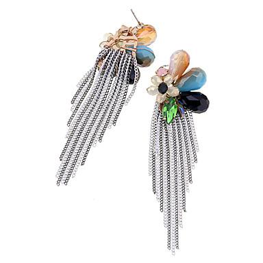 Küpe Set Kristal Eşsiz Tasarım Moda Kişiselleştirilmiş Euramerican alaşım Gökküşağı Mücevher Için Düğün Parti Doğumgünü 1 çift