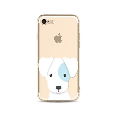 hoesje Voor Apple iPhone X iPhone 8 Plus Transparant Patroon Achterkant Hond Zacht TPU voor iPhone X iPhone 8 Plus iPhone 8 iPhone 7 Plus
