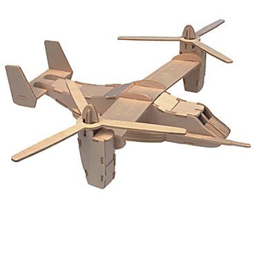 قطع تركيب3D طيارة لهو خشب كلاسيكي