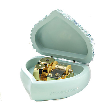 الصندوق الموسيقي ألعاب قلب راتينج قطع للمرأة للأطفال هدية