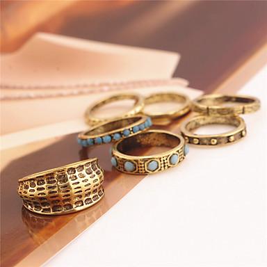 Pentru femei Set bijuterii Inele - Personalizat Euramerican Modă Auriu Inel Pentru Zilnic Casual În aer liber