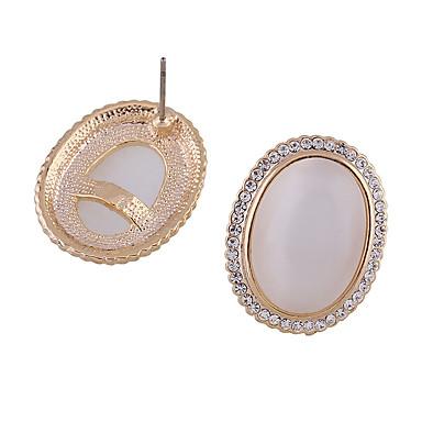 Κουμπωτά Σκουλαρίκια Κρυστάλλινο Κυκλικό Μοντέρνα Εξατομικευόμενο Euramerican Κράμα Λευκό Κοσμήματα Για Γάμου Πάρτι 1 ζευγάρι