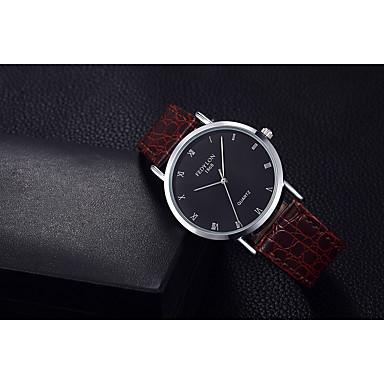 Heren Modieus horloge Kwarts / Leer Band Vrijetijdsschoenen Zwart Bruin