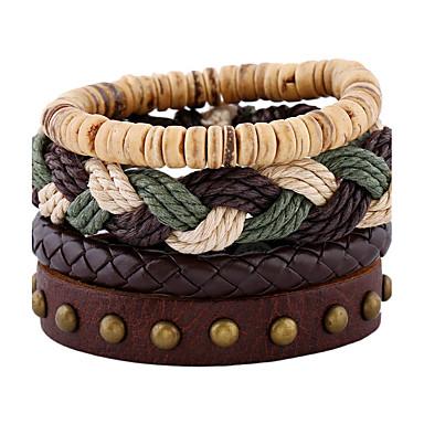Heren Dames Lederen armbanden Modieus Leder Geometrische vorm Sieraden Bruiloft Feest Sport Kostuum juwelen Regenboog