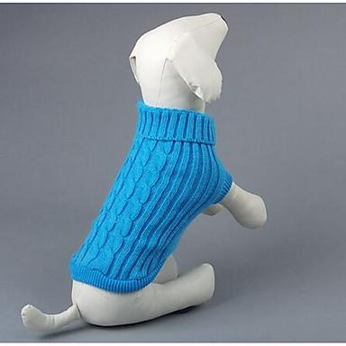 Koira Neulepaidat Koiran vaatteet Rento/arki Muoti Piirretty Punainen Sininen Asu Lemmikit