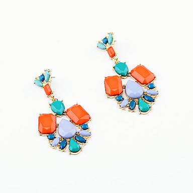 للمرأة أقراط الزر كريستال شخصية euramerican في والمجوهرات Geometric Shape مجوهرات من أجل