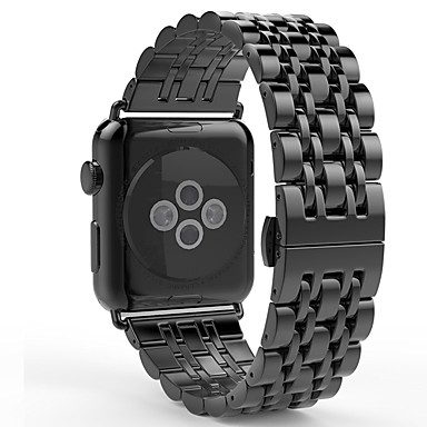 Watch Band için Apple Watch Series 3 / 2 / 1 Apple kelebek Toka Paslanmaz Çelik Bilek Askısı