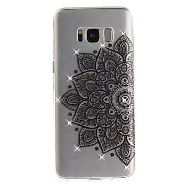 غطاء من أجل Samsung Galaxy S8 Plus S8 حجر كريم IMD شفاف غطاء خلفي زهور ناعم TPU إلى S8 S8 Plus S7 edge S7