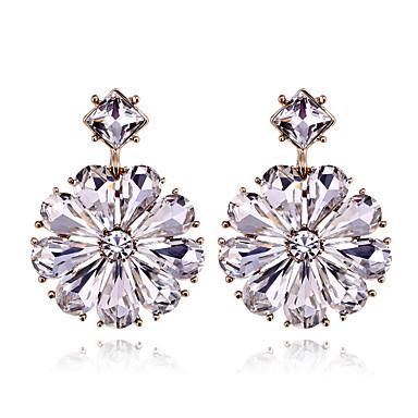 Kolczyki na sztyft Kryształ Osobiste euroamerykańskiej minimalistyczny styl Stop Silver Biżuteria Na Ślub Impreza Urodziny 1 para