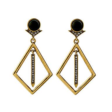 Kolczyki koła Kryształ Osobiste euroamerykańskiej Geometric Shape Gold Biżuteria Na 1 para