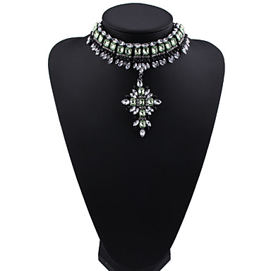 Kadın's Uçlu Kolyeler Mücevher Mücevher Sentetik Taşlar alaşım Moda Euramerican Mücevher Uyumluluk Parti