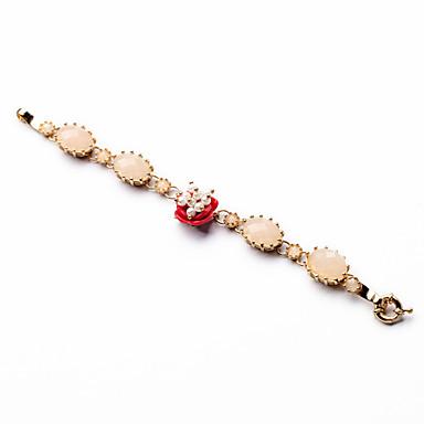Dames Armbanden met ketting en sluiting Vriendschap Modieus Legering Ovalen vorm Sieraden Voor 1 stuks