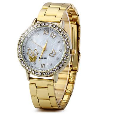 Dames Dress horloge Modieus horloge Chinees Kwarts Strass Legering Band Glitter Vintage Vlinder Goud