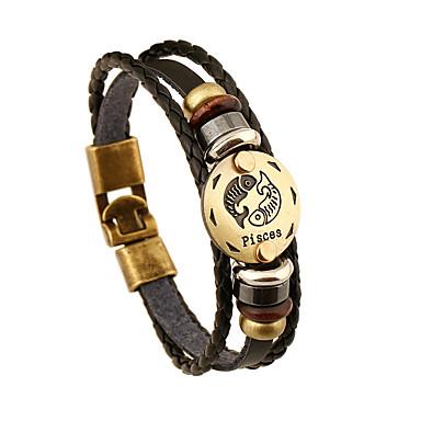 للرجال للمرأة أساور من الجلد قديم الصداقة جلد دائري مجوهرات الذكرى السنوية هدية الفالنتين
