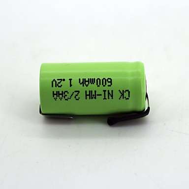 1 قطع ني-م بطارية 2 / 3aa 600 مللي أمبير 1.2 فولت جودة عالية (اللون الأخضر)