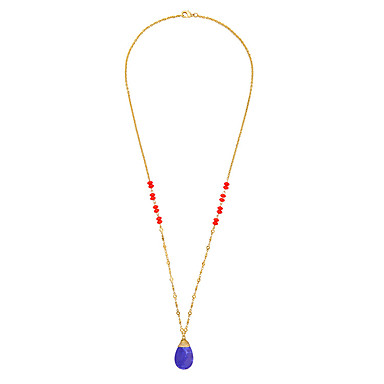 Pentru femei Coliere cu Pandativ Cristal La modă Personalizat Euramerican stil minimalist Albastru Închis Bijuterii Pentru Nuntă Petrecere