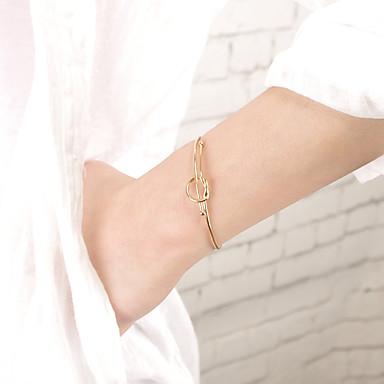 للمرأة أساور اصفاد مجوهرات موضة نحاس غير منتظم مجوهرات حزب مناسبة خاصة